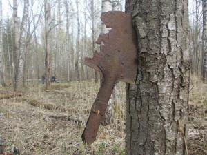 Лопатка солдата так и осталась в стволе на десятилетия (1)